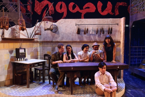 Leading cast in the Kopitiam (credit: Liang Vincent WANG)